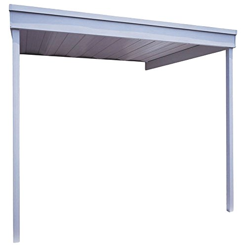 Hollywood-Decor-10-ftx10-ft-Attached-Patio-CoverCarport-in-Galvanized-Steel-Eggshell-Finish-0
