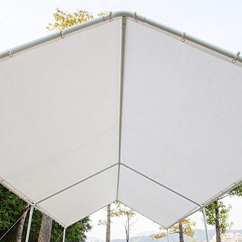Honesty-Carport-Canopy-Tent-Frame-Shelter-Car-Boat-Truck-Garage-Storage-Shade-Metal-Big-0-2