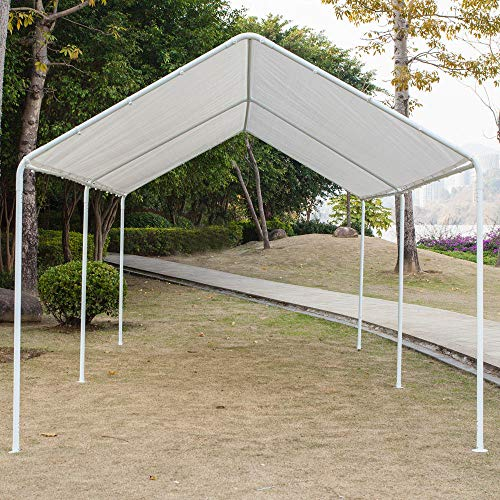 Honesty-Carport-Canopy-Tent-Frame-Shelter-Car-Boat-Truck-Garage-Storage-Shade-Metal-Big-0