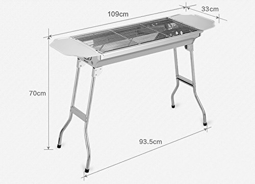 Horly-Big-Style-Outdoor-BBQ-Family-Picnic-Stainless-Steel-Outdoor-Oven-Charcoal-Portable-Grill-Kabob-BBQ-Grill-Foldable-BBQ-Set-0-1