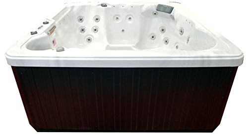 Hudson-Bay-Spa-XP34-6-Person-34-Outdoor-Spa-with-Stainless-Jets-110V-Cord-80-x-80-x-34-Sterling-White-0-2