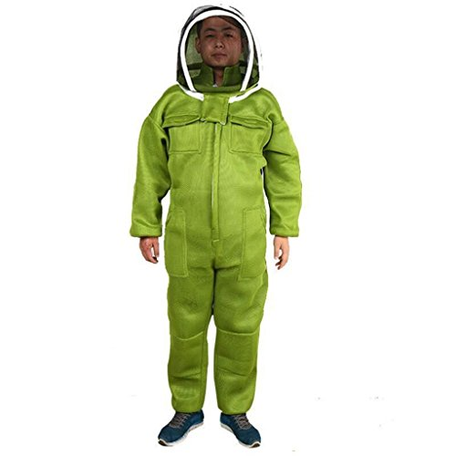 Jili-Online-Beekeeping-Protective-Equipment-Veil-Bee-FULL-BODY-Suit-Hat-Smock-Cotton-3-Sizes-Choices-0-2