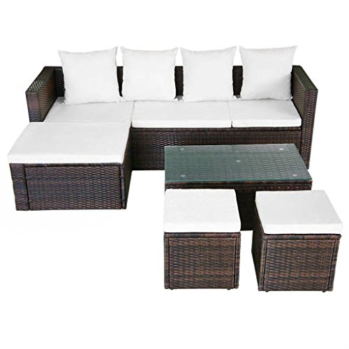 K-Top-Deal-12-Pieces-Patio-Outdoor-Wicker-Rattan-Sofa-Set-and-Stool-with-Cushion-Set-Brown-0-0