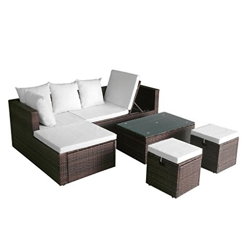 K-Top-Deal-12-Pieces-Patio-Outdoor-Wicker-Rattan-Sofa-Set-and-Stool-with-Cushion-Set-Brown-0-1
