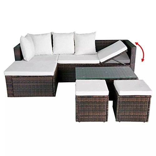 K-Top-Deal-12-Pieces-Patio-Outdoor-Wicker-Rattan-Sofa-Set-and-Stool-with-Cushion-Set-Brown-0-2