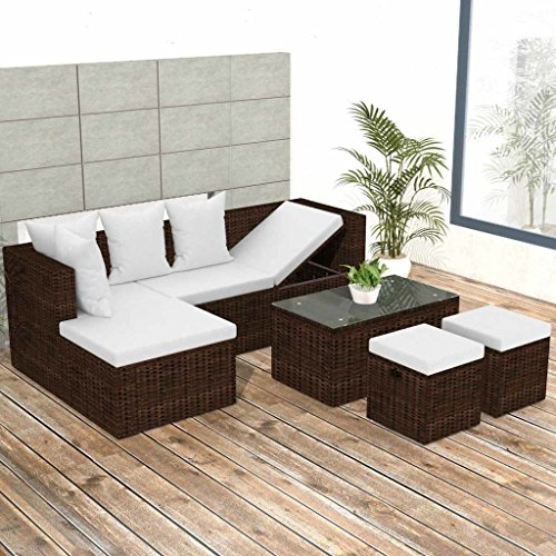 K-Top-Deal-12-Pieces-Patio-Outdoor-Wicker-Rattan-Sofa-Set-and-Stool-with-Cushion-Set-Brown-0