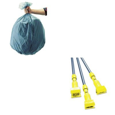 KITRCP501188GRARCPH246GY-Value-Kit-Rubbermaid-Gray-Gripper-Wet-Mop-Handle-RCPH246GY-and-Rubbermaid-5011-88-Tuffmade-Polyliner-Low-Density-Can-Liners-55-Gallons-RCP501188GRA-0