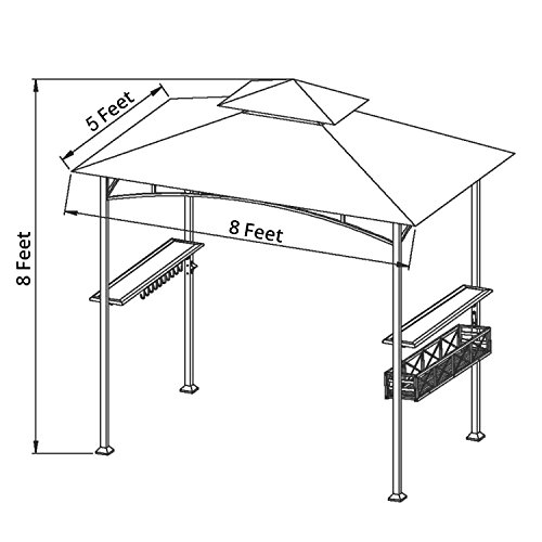 LCH-8-x-5-ft-Grill-Gazebo-Patio-BBQ-Shelter-Outdoor-Barbecue-Double-Tier-Soft-Top-Canopy-Beige-0-1