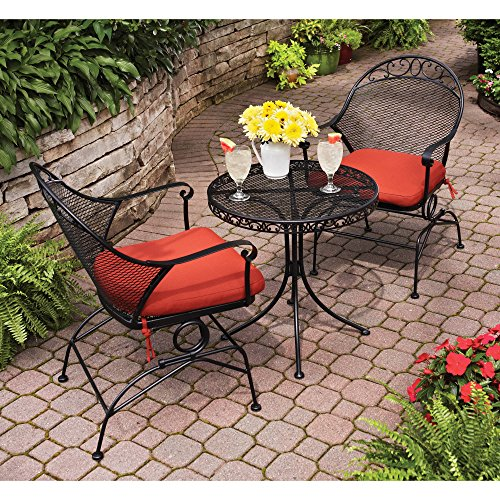 LOVE-US-Elegant-2-piece-Patio-Bistro-Set-Including-2-Upholstered-Seat-Chairs-and-a-Petite-Round-Coffee-Table-Sturdy-Metal-Frame-with-Victorian-Style-Decorations-Jacquard-Fabric-Expert-Home-Guide-0