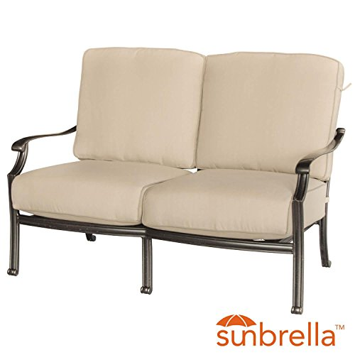 Lakeview-Outdoor-Designs-Carondelet-Cast-Aluminum-Patio-Loveseat-WSunbrella-Spectrum-Sand-Cushion-0