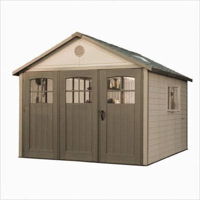 Lifetime-11-Foot-Shed-with-9-Foot-Tri-Fold-Doors-0