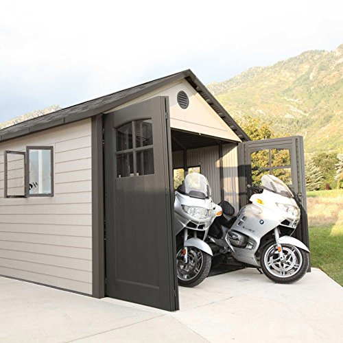 Lifetime-11-x-21-ft-Outdoor-Storage-Shed-with-Tri-Fold-Doors-0-2