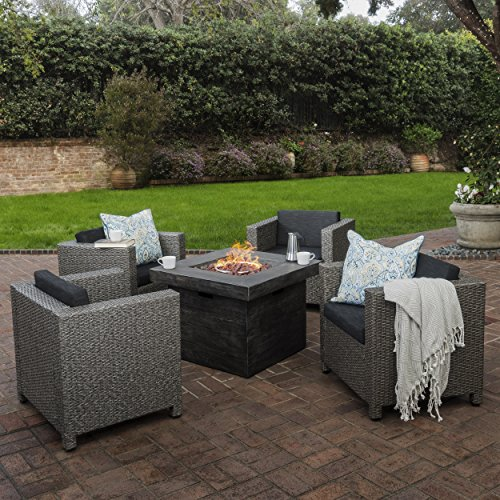 Livingston-Outdoor-4-Pc-Club-Chair-Set-wWater-Resistant-Cushions-Stone-Firepit-Grey-0