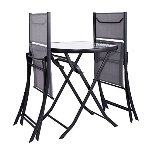 MD Group Patio Table Chairs Set Folding Design Durable ...