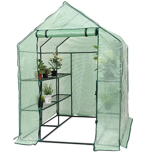MD-Group-Portable-Greenhouse-8-Shelves-Garden-Nursery-Plants-Growth-House-Heavy-Duty-PE-Mesh-0-0