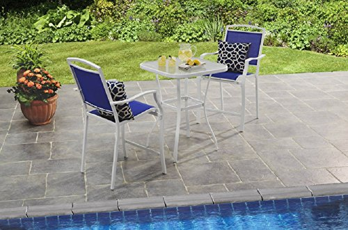 Mainstay-3-Piece-Bar-Height-Bistro-Table-Chair-Set-Patio-Furniture-Outdoor-New-Deck-Backyard-0