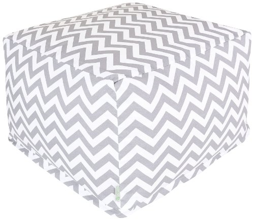 Majestic-Home-Goods-Chevron-Ottoman-Large-Gray-0