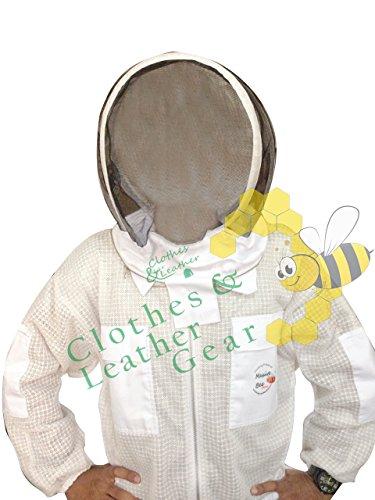 Massivebee-Beekeeping-Leg-Ziper-Ultra-Ventilated-Suit-with-domo-fencing-veil-bee-suit-0-2