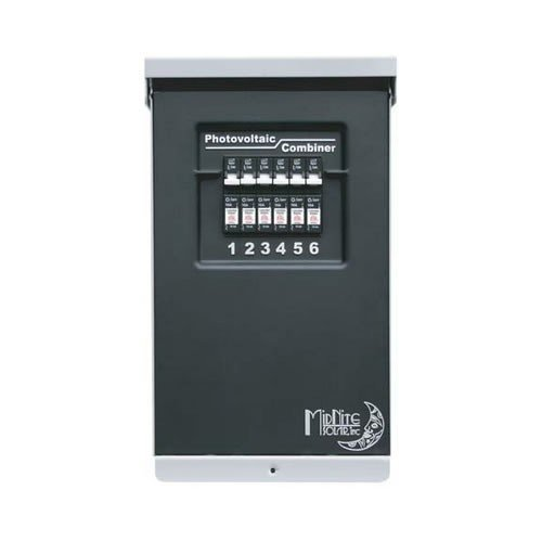 Midnite-Solar-Photovoltaic-Combiner-Box-6-Position-Model-MNPV6-with-6-MNEPV15-15-amp-midnite-solar-circuit-breakers-installed-for-you-0
