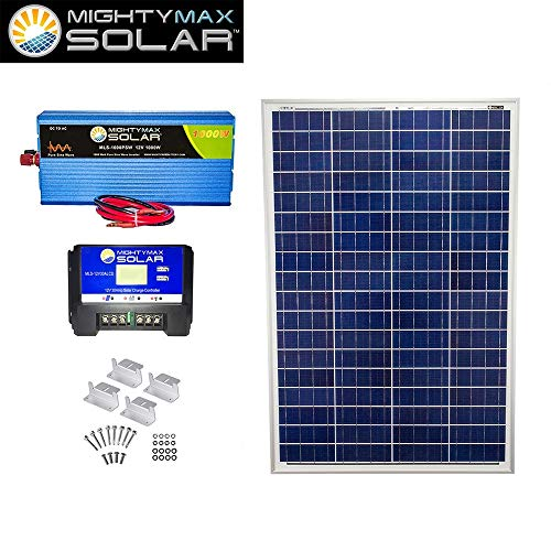 Mighty-Max-Battery-100W-Poly-Solar-Panel-12V-30A-Controller-1000W-PSW-Z-Bracket-brand-product-0