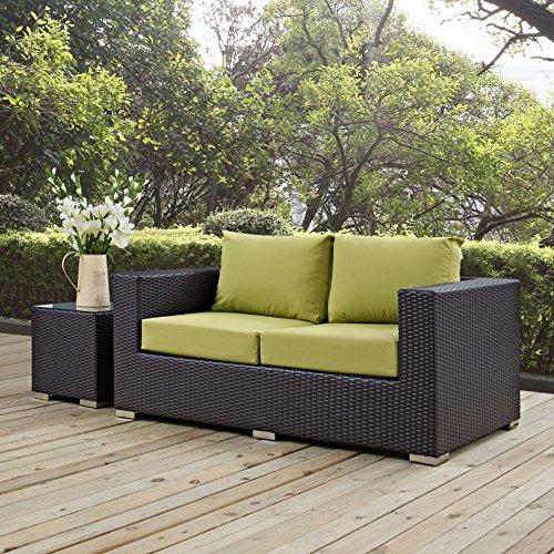 Modern-Contemporary-Urban-Design-Outdoor-Patio-Balcony-Loveseat-Sofa-Green-Rattan-0-0