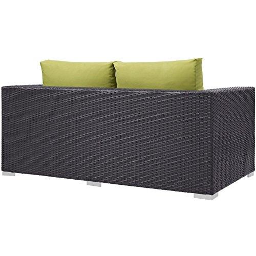 Modern-Contemporary-Urban-Design-Outdoor-Patio-Balcony-Loveseat-Sofa-Green-Rattan-0-2