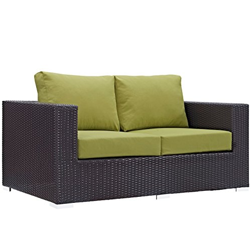 Modern-Contemporary-Urban-Design-Outdoor-Patio-Balcony-Loveseat-Sofa-Green-Rattan-0