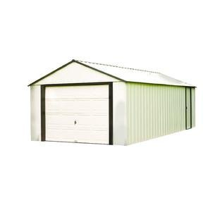 Murrayhill-Vinyl-Coated-Steel-Coffee-Almond-High-Gable-738-Wall-Height-Roll-up-Garage-Door12-x-10-ft-36-x-28-m-0