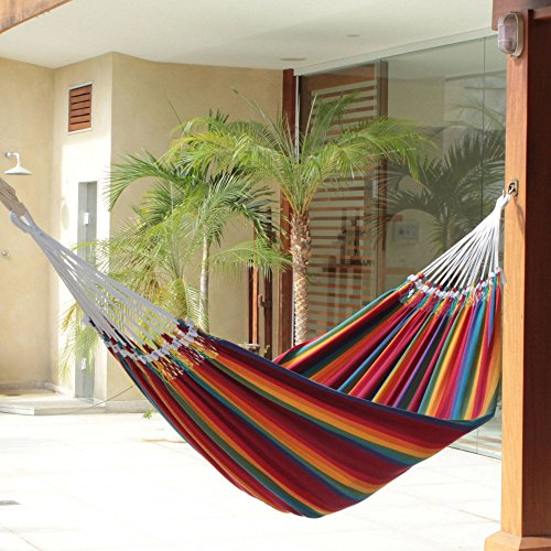 NOVICA-Hand-Woven-Multi-Color-Striped-Cotton-2-Person-Hammock-Brazilian-Rainbow-Double-0-0
