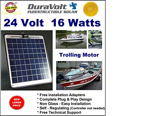 NOW-20-Watts-Trolling-Motor-24V-battery-charger-12-Amp-Trickle-Solar-Charger-Self-Regulating-Boat-Marine-Solar-Panel-No-experience-Plug-Play-Design-Dimensions-141-in-x-157-W-x-14-0