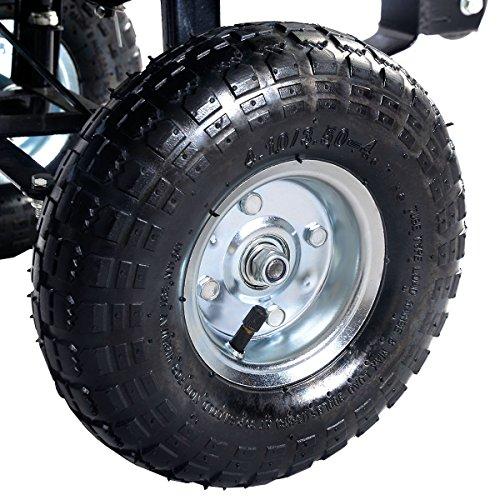 New-Green-650LB-Garden-Dump-Cart-Dumper-Wagon-Carrier-Wheel-Barrow-Air-Tires-Heavy-Duty-0-1