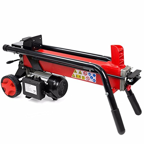 New-Log-Splitter-Cut-Wood-Mobile-Electrical-7-Tons-Cutter-Hydraulic-Wheel-3400RPM-0-0