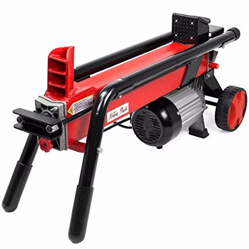 New-Log-Splitter-Cut-Wood-Mobile-Electrical-7-Tons-Cutter-Hydraulic-Wheel-3400RPM-0-1