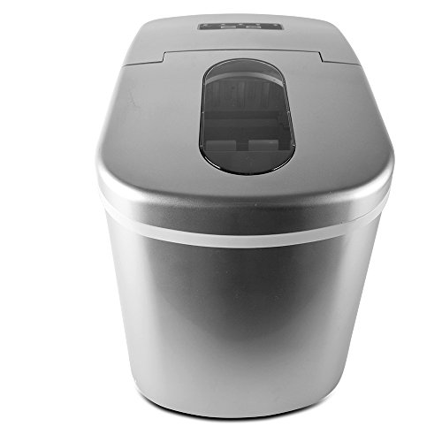 Newlifeelectronic-Ice-Maker-Machine-Portable-Countertop-Ice-Maker-Machine-Produces-26-lbs-of-Ice-Per-24-Hours-Stainless-Steel-High-Efficiency-Ice-Maker-Silver-0-1