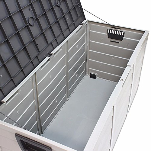 Nice1159-New-Storage-Large-All-Weather-Resin-Durable-Patio-Outdoor-Deck-Box-Easy-to-Use-Cabinet-Container-Organizer-Size-43-X-20-X-17-Light-Grey-0-1