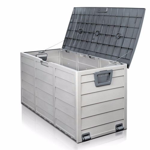 Nice1159-New-Storage-Large-All-Weather-Resin-Durable-Patio-Outdoor-Deck-Box-Easy-to-Use-Cabinet-Container-Organizer-Size-43-X-20-X-17-Light-Grey-0