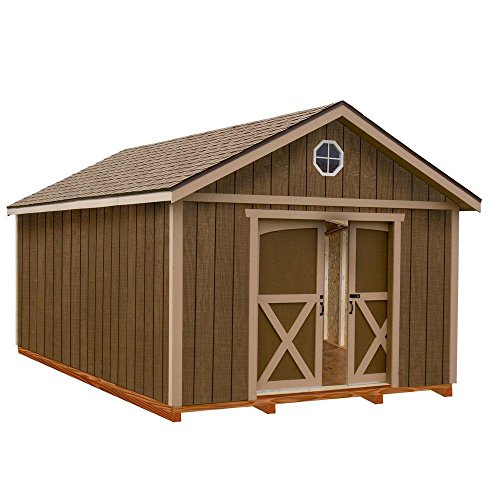 North-Dakota-12-ft-x-16-ft-Wood-Storage-Shed-Kit-with-Floor-Including-4-x-4-Runners-0