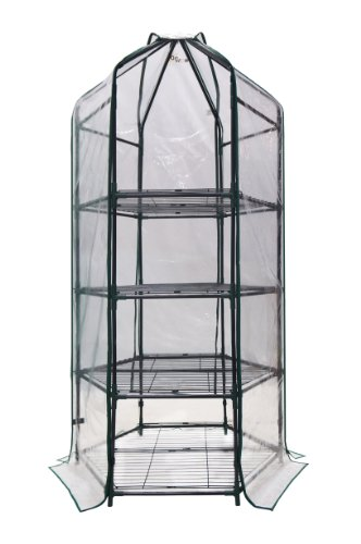 Ogrow-Ultra-Deluxe-4-Tier-Hexagonal-Flower-Planthouse-Greenhouse-0-0
