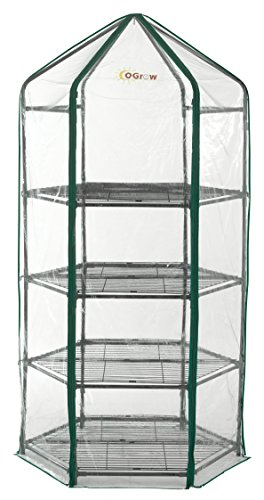 Ogrow-Ultra-Deluxe-4-Tier-Hexagonal-Flower-Planthouse-Greenhouse-0-1