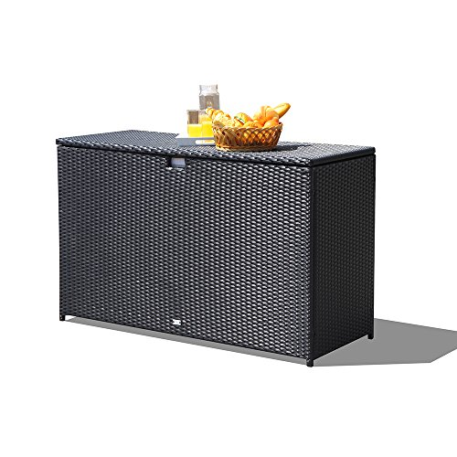 Orange-Casual-Patio-Aluminum-Frame-Resin-Wicker-Storage-Bin-Deck-Box-140-Gal-0