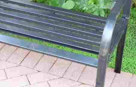 Outdoor-Patio-Bench-Steel-Curved-Back-Black-0-0