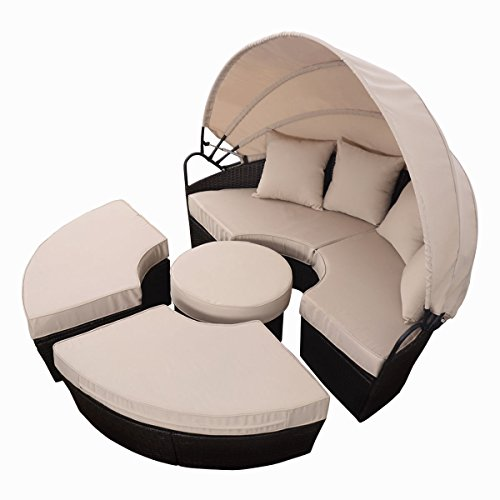 Outdoor-Patio-Sofa-Mix-Brown-Rattan-Furniture-Round-Retractable-Canopy-Daybed-0-1
