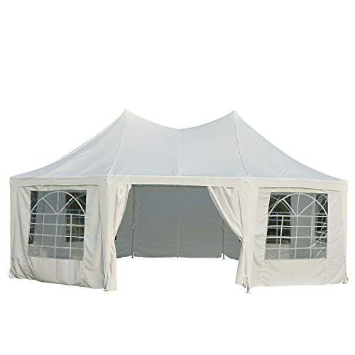 Outsunny-22-x-16-Large-Octagon-8-Wall-Party-Canopy-Gazebo-Tent-White-0