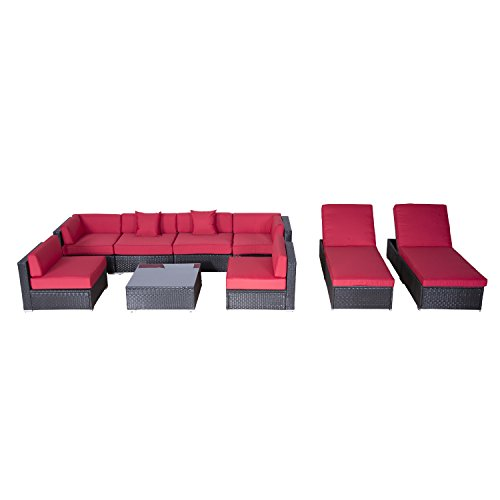 Outsunny-9-Piece-Outdoor-Patio-Rattan-Wicker-Sofa-Sectional-Chaise-Lounge-Furniture-Set-0