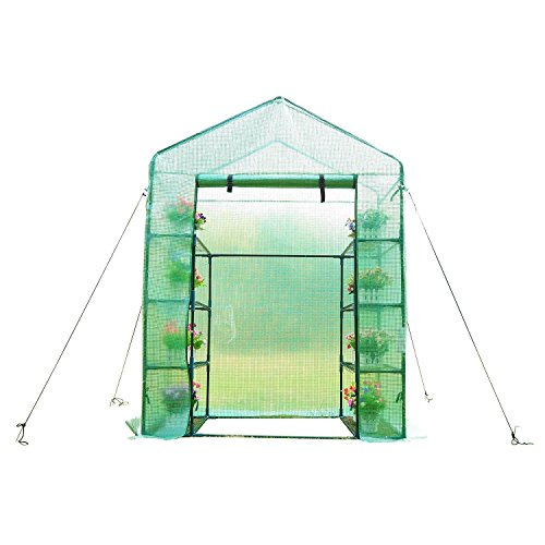 Outsunny-Outdoor-Portable-Walk-in-Greenhouse-Lightweight-Deck-with-Zippered-Door-0