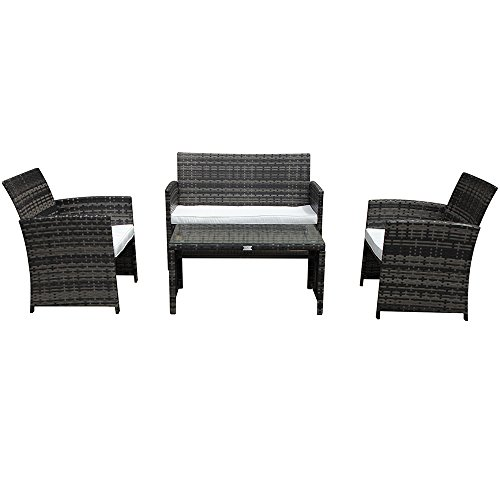 PATIOROMA-4-Piece-Rattan-Sectional-Furniture-Set-with-Cream-White-Seat-Cushions-Outdoor-PE-Wicker-Gray-0-1