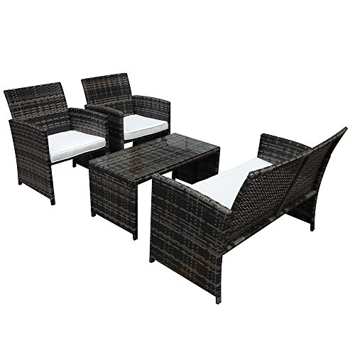 PATIOROMA-4-Piece-Rattan-Sectional-Furniture-Set-with-Cream-White-Seat-Cushions-Outdoor-PE-Wicker-Gray-0-2