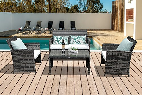 PATIOROMA-4-Piece-Rattan-Sectional-Furniture-Set-with-Cream-White-Seat-Cushions-Outdoor-PE-Wicker-Gray-0