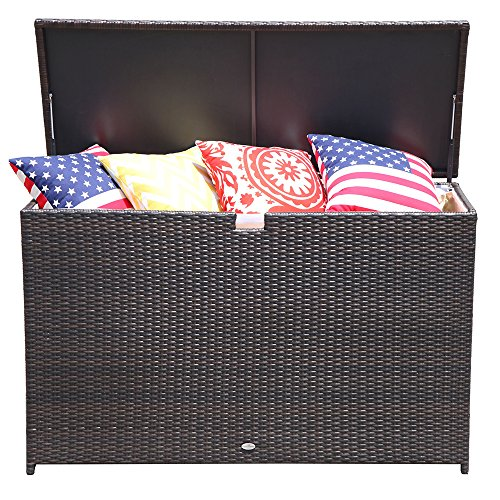 PATIOROMA-Outdoor-Storage-Box-Patio-Aluminum-Frame-Wicker-Cushion-Storage-Bin-Deck-Box-Espresso-Brown-0-0