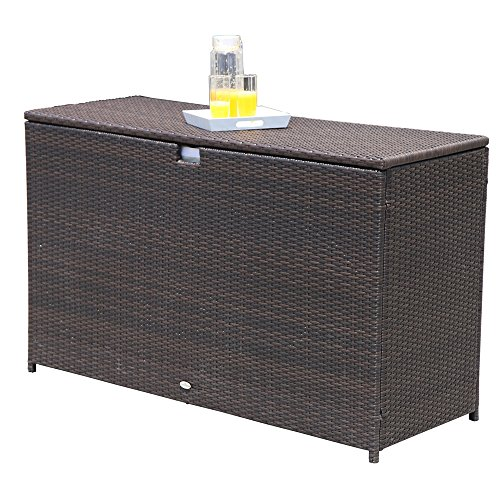 PATIOROMA-Outdoor-Storage-Box-Patio-Aluminum-Frame-Wicker-Cushion-Storage-Bin-Deck-Box-Espresso-Brown-0-2